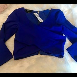 Bebe New Blue Crop Top SzXs